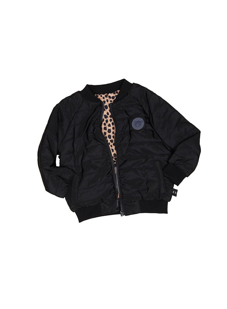 Huxbaby Hux Reversible Padded Jacket (Black/Leopard)