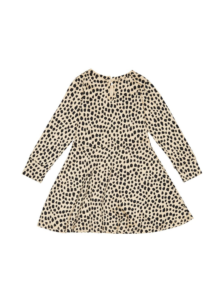 Huxbaby Leopard Skater Dress (Oyster)