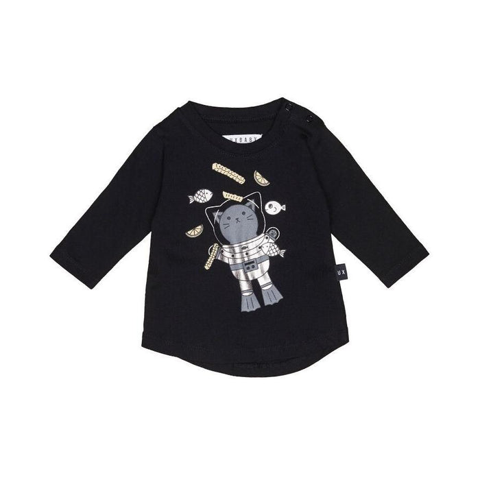 Huxbaby Chip Diver LS Top (Black)