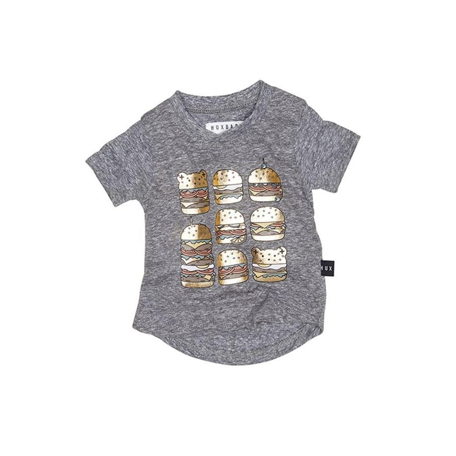 Huxbaby Square Burger T-shirt (Charcoal Slub)
