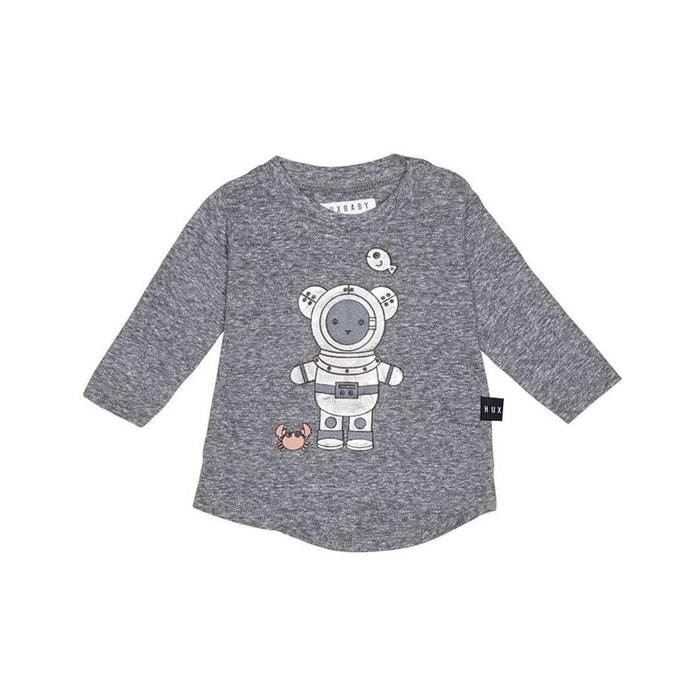 Huxbaby Deep Sea Diver LS Top (Charcoal Slub)