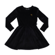 Rock Your Kid Velvet L/S Waisted Dress (Black)