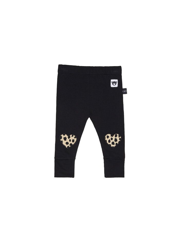Huxbaby Leopard Heart Legging (Black)