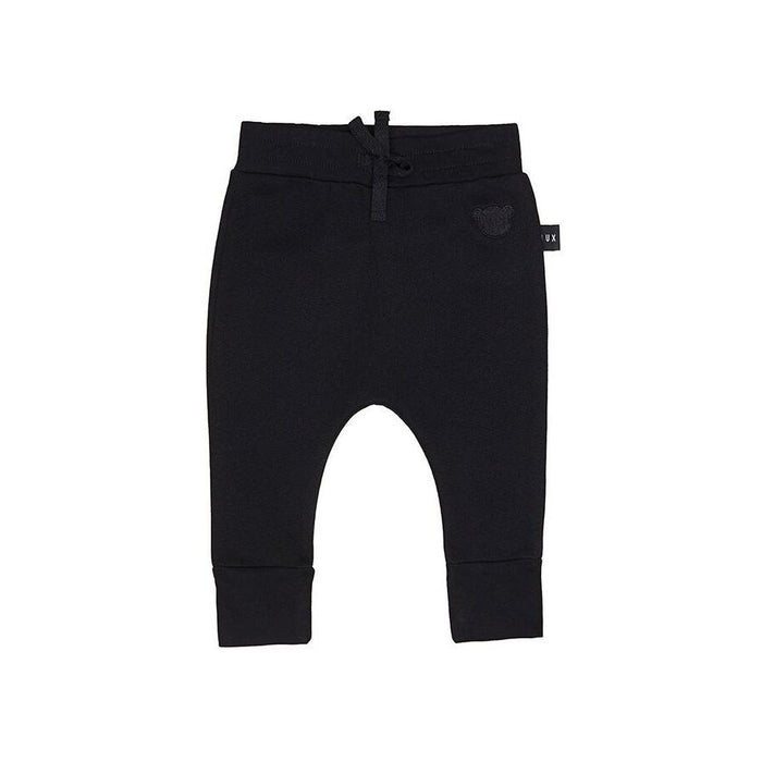 Huxbaby Black Drop Crotch Fleece Pant (Black)