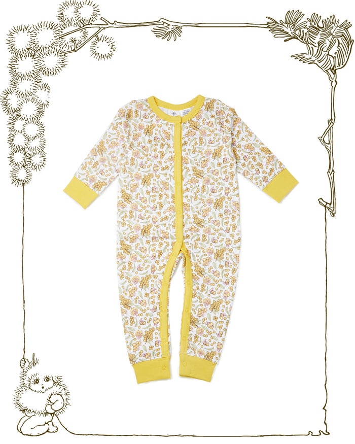 Walnut + May Gibbs Sam Jumpsuit (Wattle Baby)