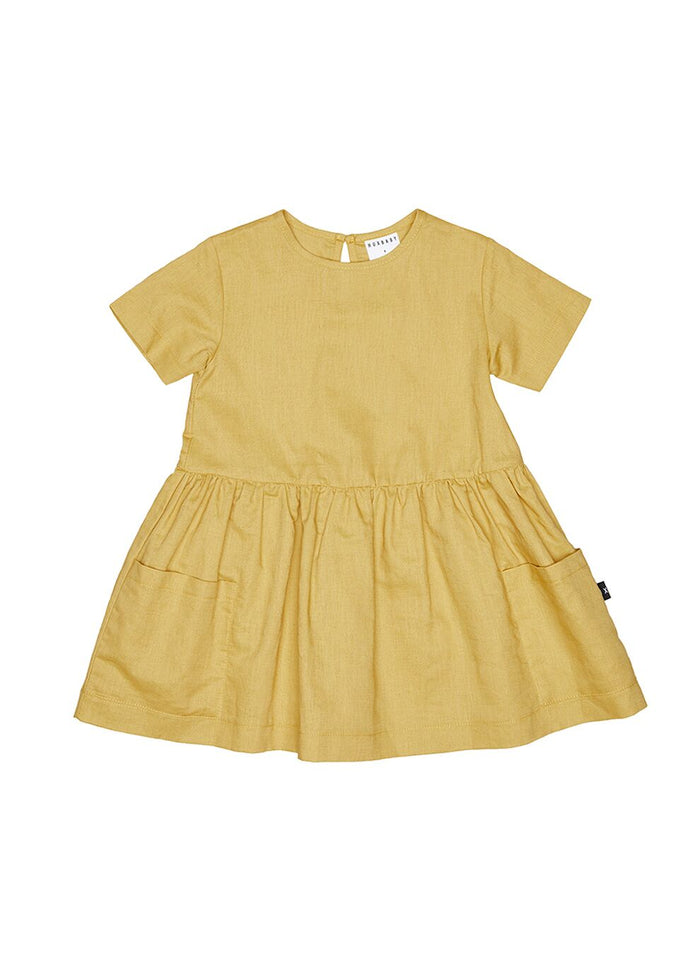 Huxbaby Mustard Darcy Dress (Mustard)