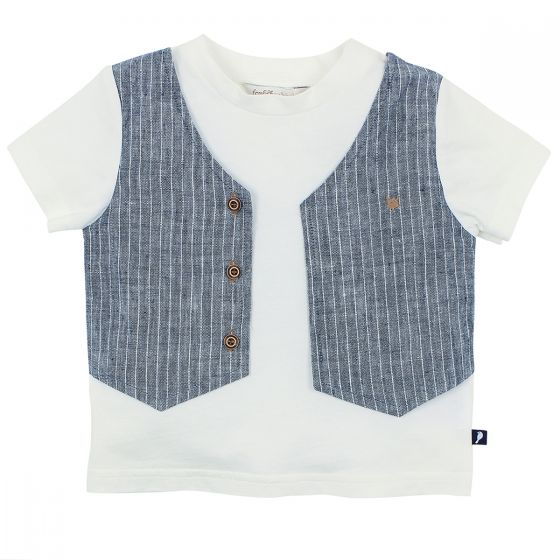 Fox & Finch Little Mr Tee W/Mock Vest