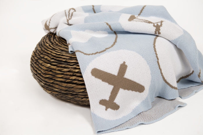 D&B Blanket (Up & Away, Blue) 100x120cm