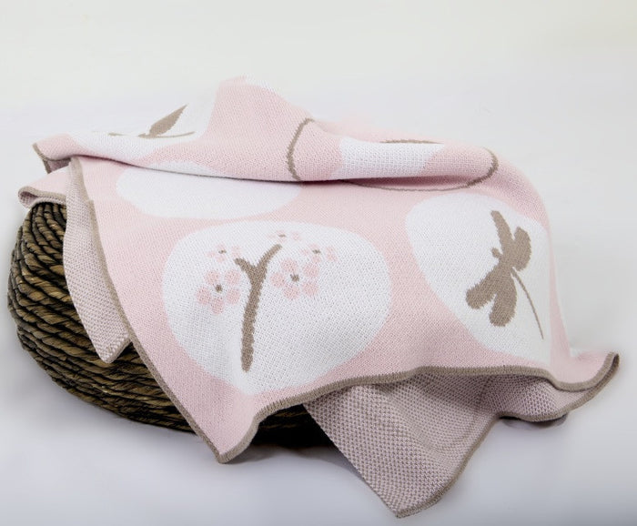 D&B Blanket (Pink Blossom) 100x120cm