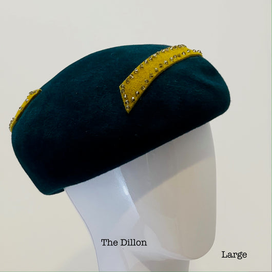 *The Dillon Beret with crystals - large