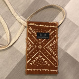Authentic mud cloth crossover cell bags
