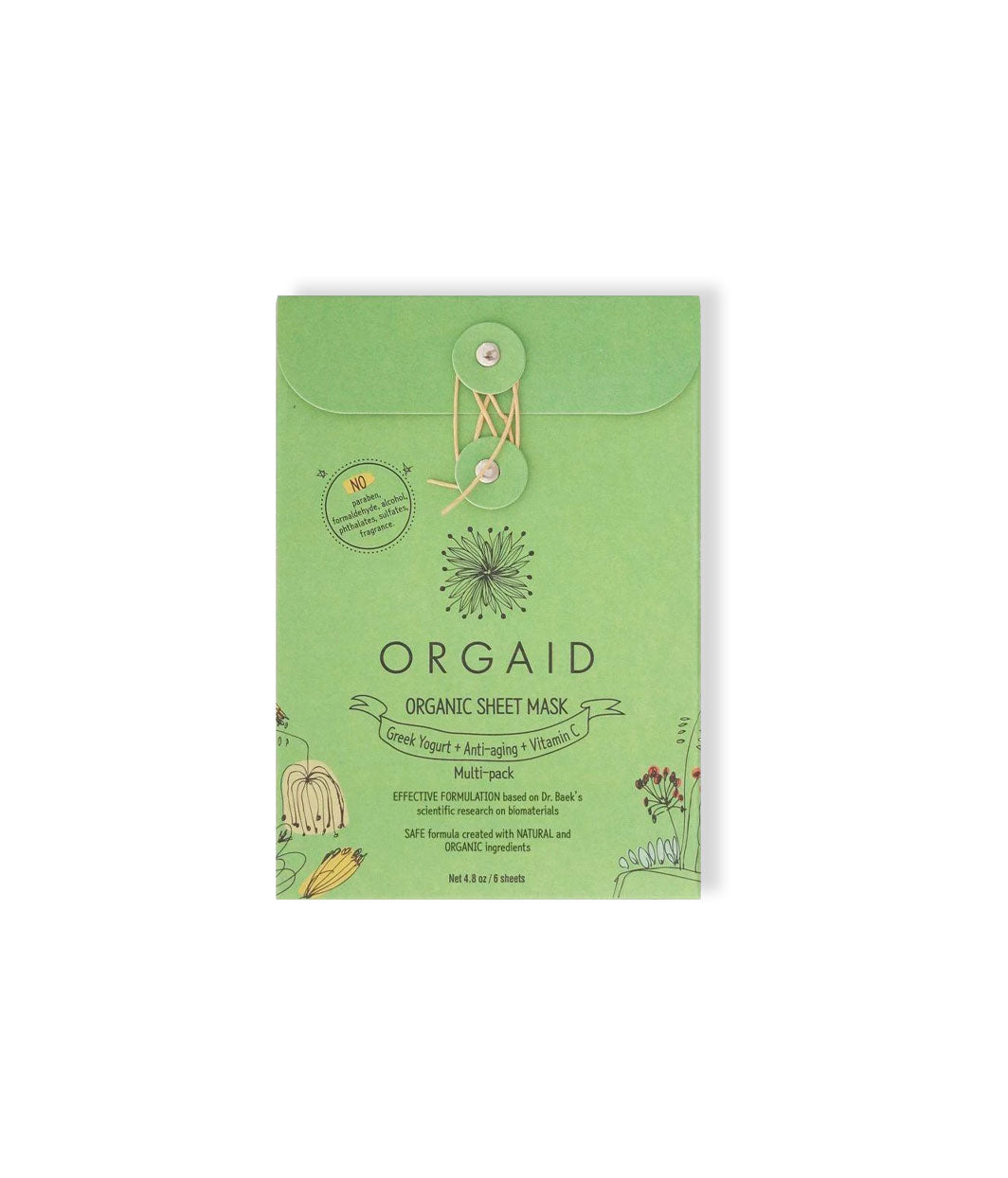 Organic Sheet Mask Set - LEMON LAINE - Masks - Orgaid