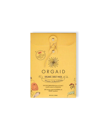Vitamin C Revitalizing Organic Sheet Mask - LEMON LAINE - Masks - Orgaid