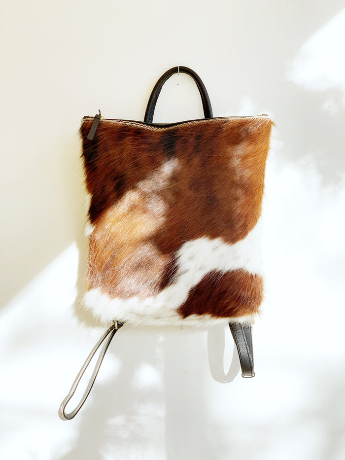 Tri Colored Cowhide Backpack