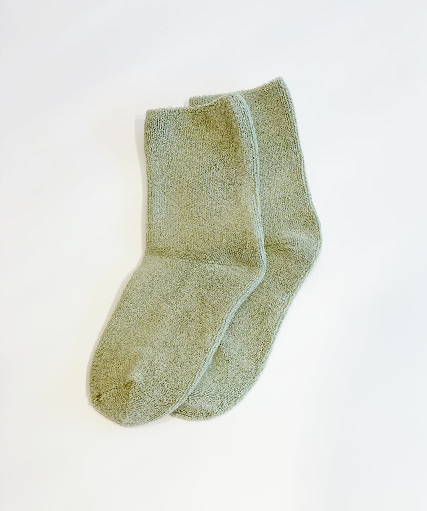 Sage Cloud socks