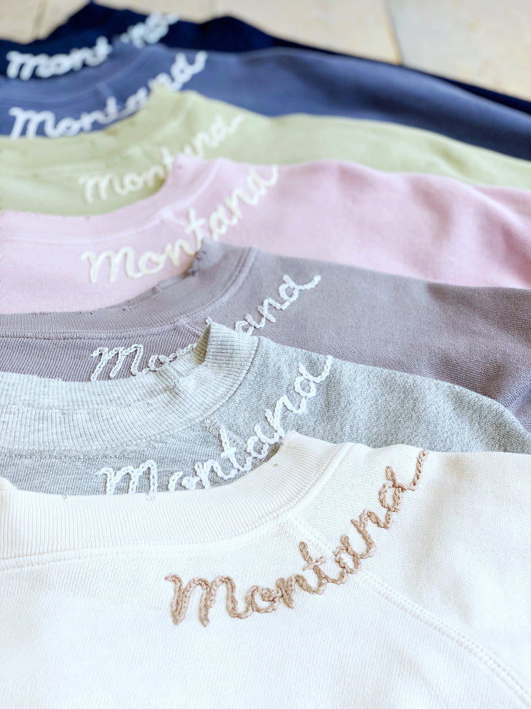 Montana Embroidered Crewneck Sweatshirt