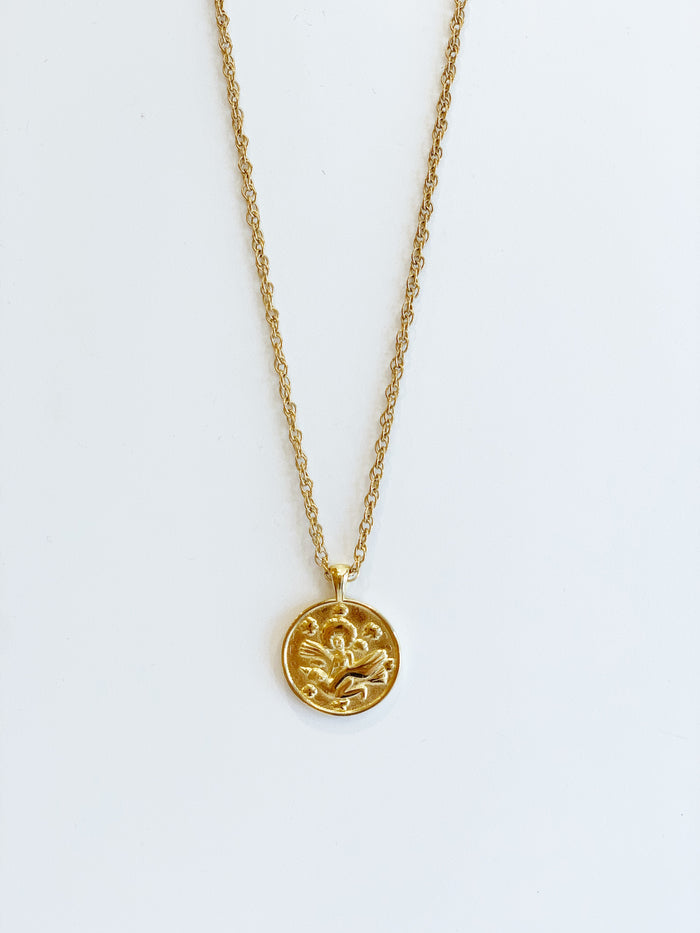 Gold 'anywhere' medallion - thick chain