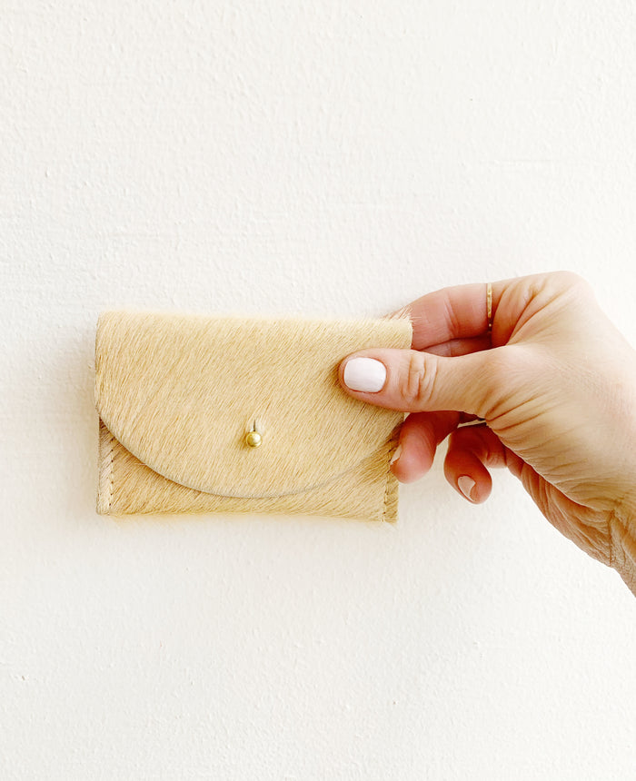 Yellow Cowhide Cardholder