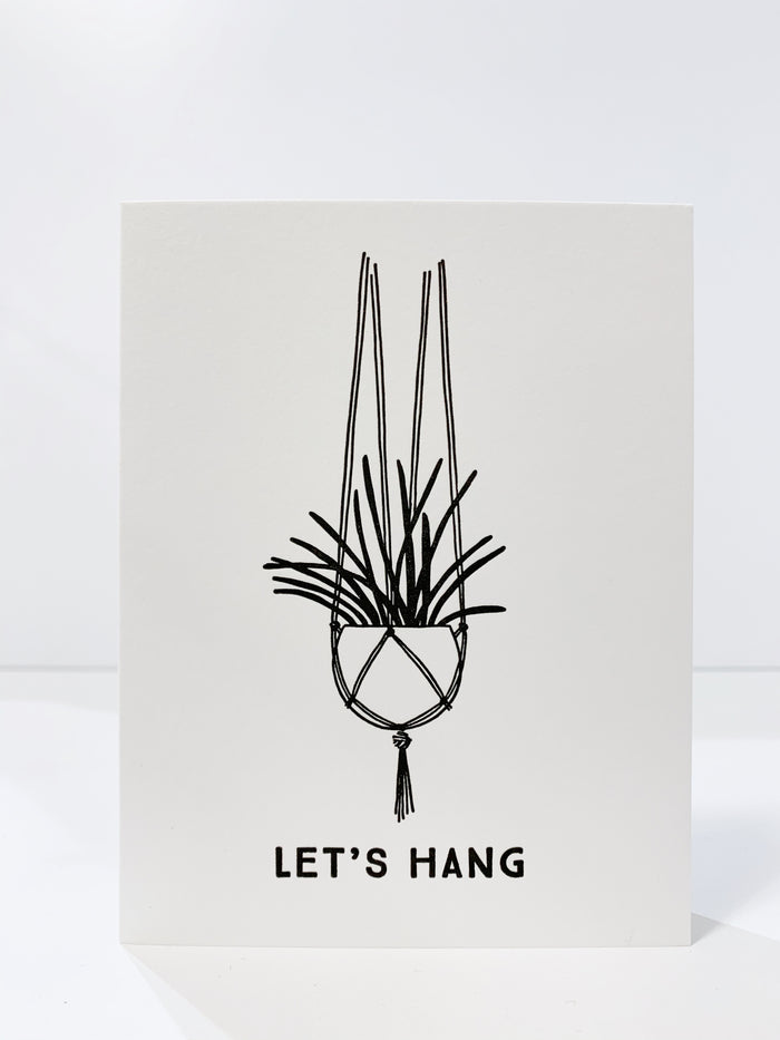 'Let's Hang' Card
