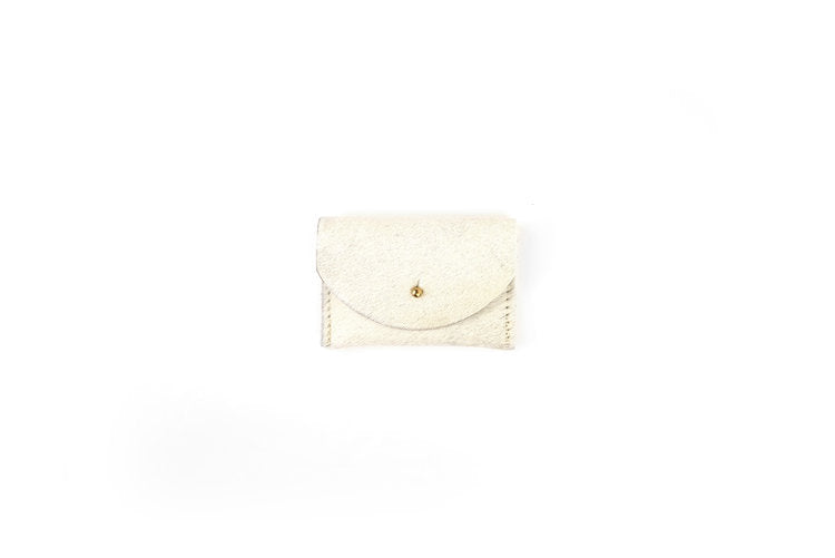 White Cowhide Cardholder