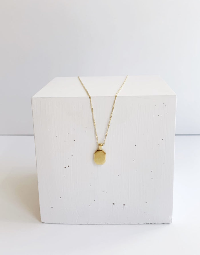 Gold Leo Signet Necklace
