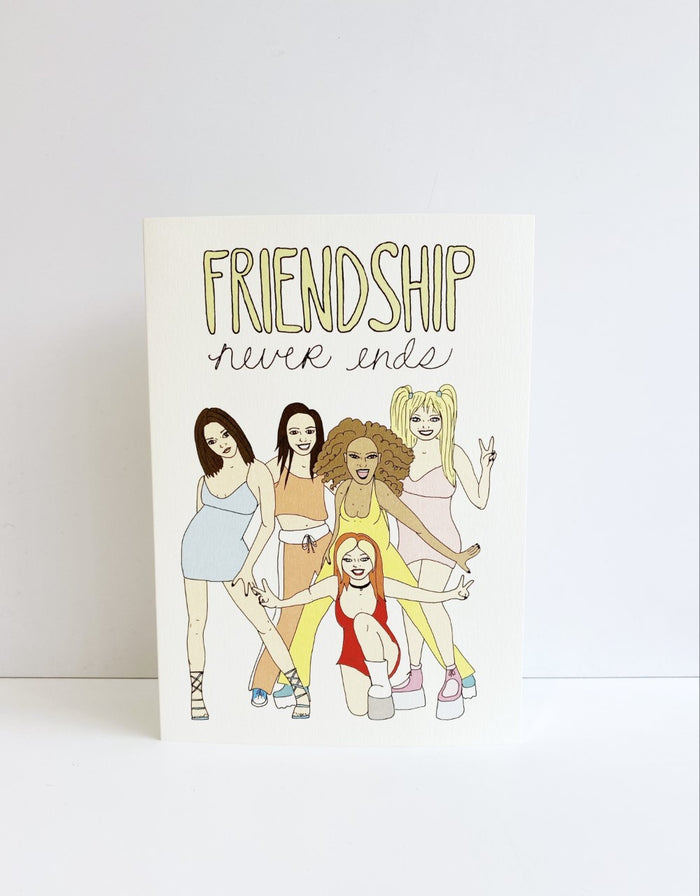 'Friendship Never Ends' Card