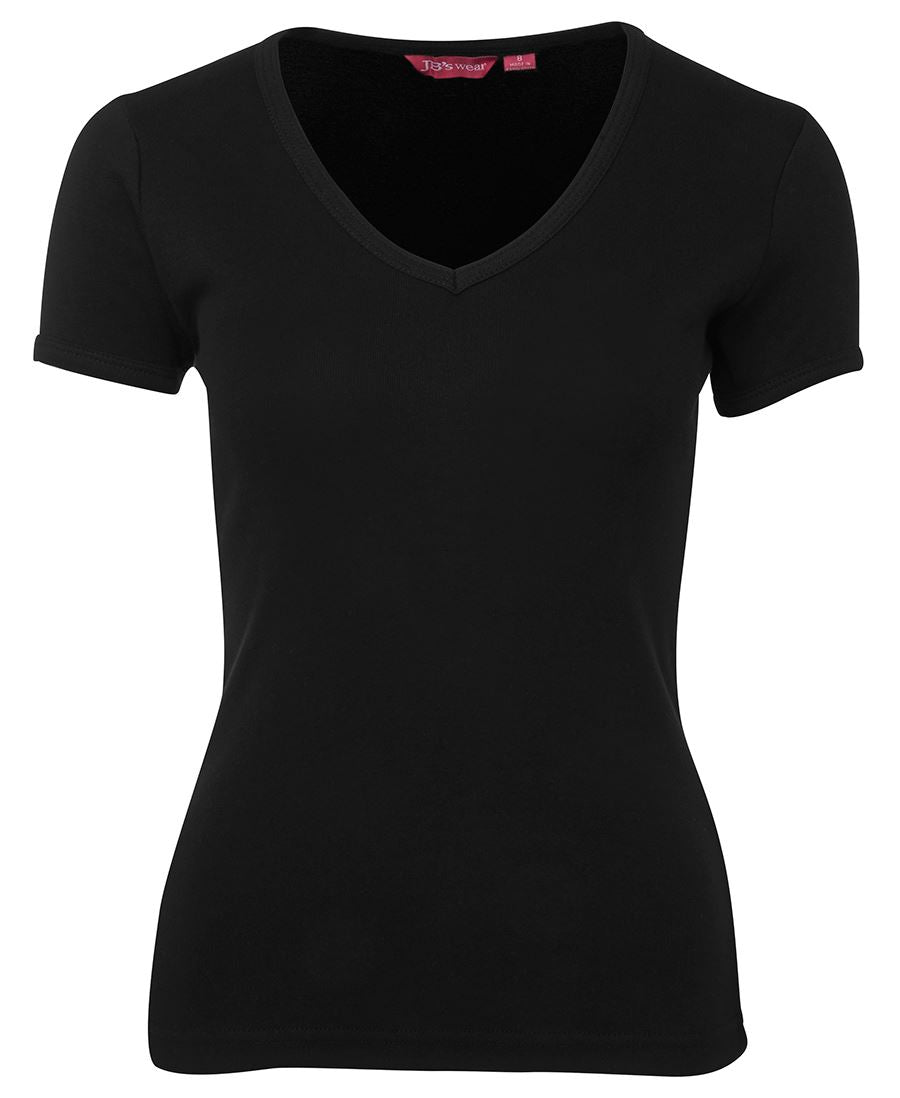 ACTIV EMBROIDERY DESIGNS, JB WEAR  V-Neck Tee (Ladies)