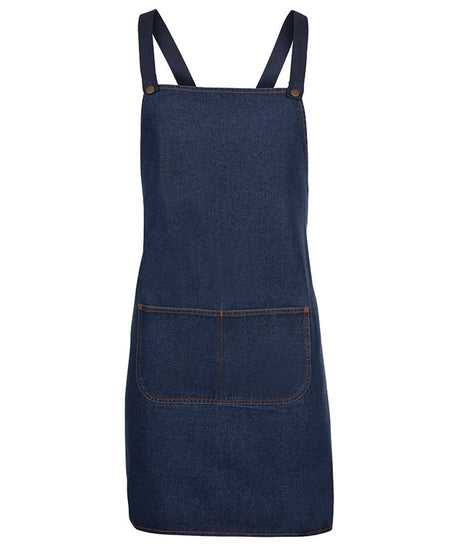 ACTIV EMBROIDERY DESIGNS, UNIFORM. JB Cross Back Denim Apron .