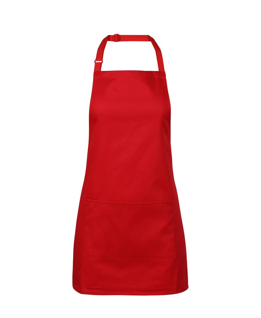 ACTIV EMBROIDERY DESIGN, UNIFORMS. JB Bib Apron With Pocket (65cm x 71cm)