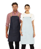 ACTIV EMBROIDERY DESIGNS. UNIFORMS. BILLY DENIM BIB APRON.