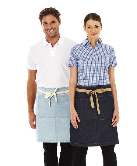 ACTIV EMBROIDERY DESIGNS. UNIFORMS. CHARLIE DENIM WAIST APRON