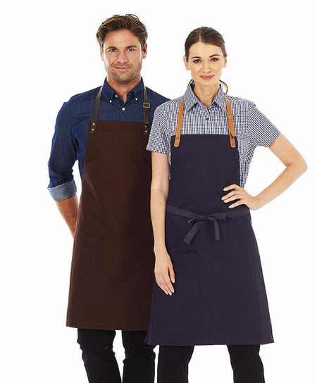 ACTIV EMBROIDERY DESIGNS. UNIFORMS. LUCA CANVAS BIB APRON.