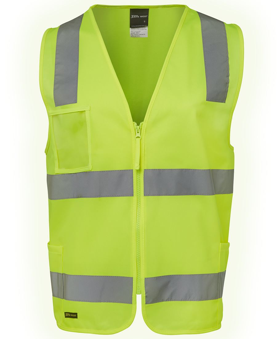 JB'S WEAR, 6DNSZ, Hi Vis D+N Zip Safety Vest