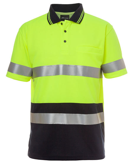 Hi Vis S/S Non Cuff (D + N) Traditional Polo (Unisex)