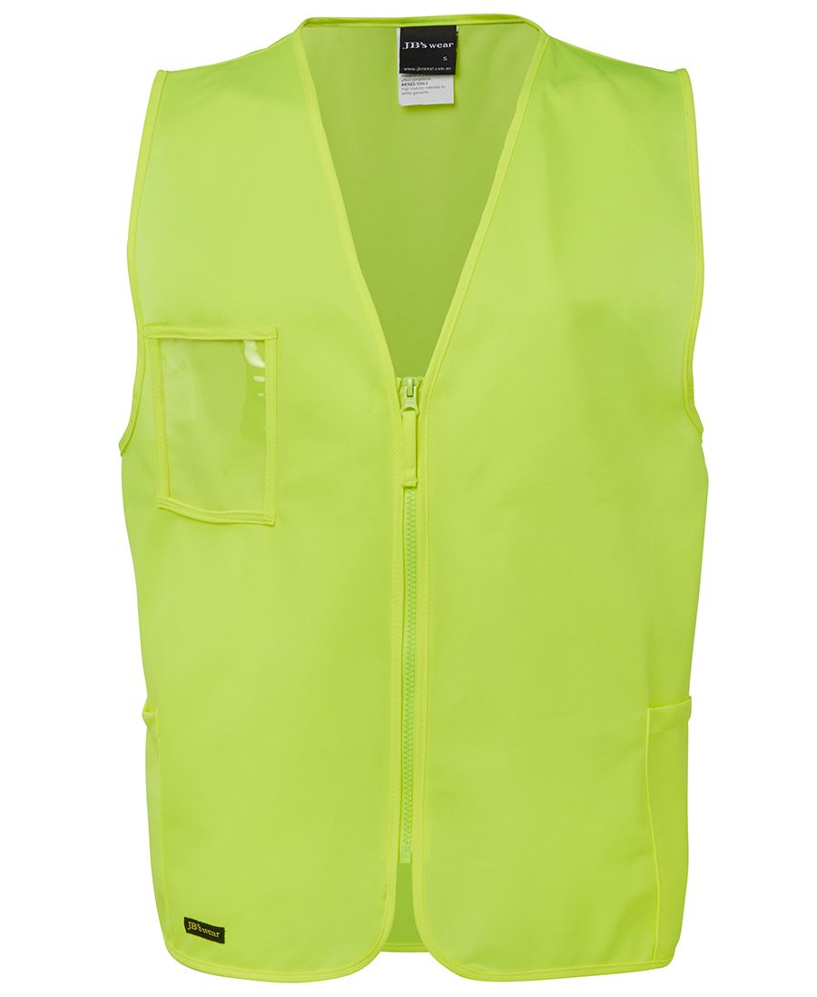 JB'S WEAR 6HVSZ Hi Vis Zip Safety Vest