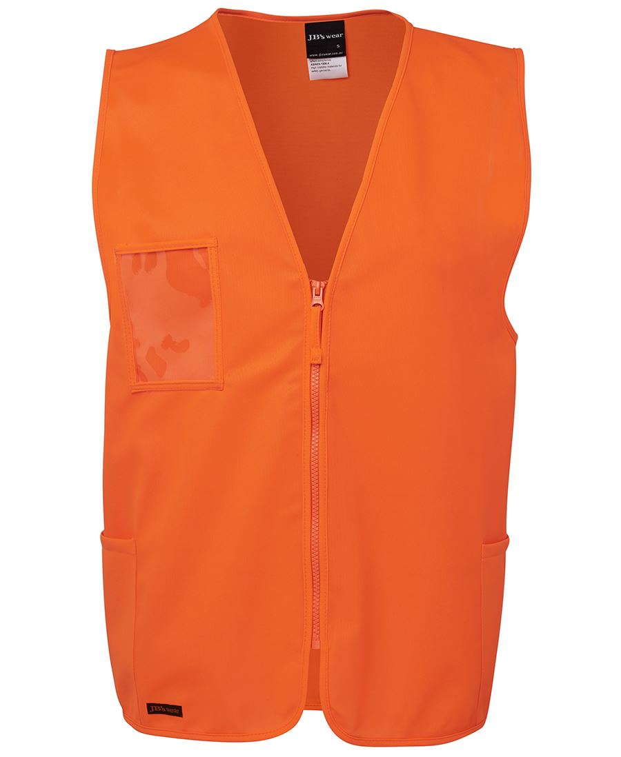 Hi Vis Zip Safety Vest