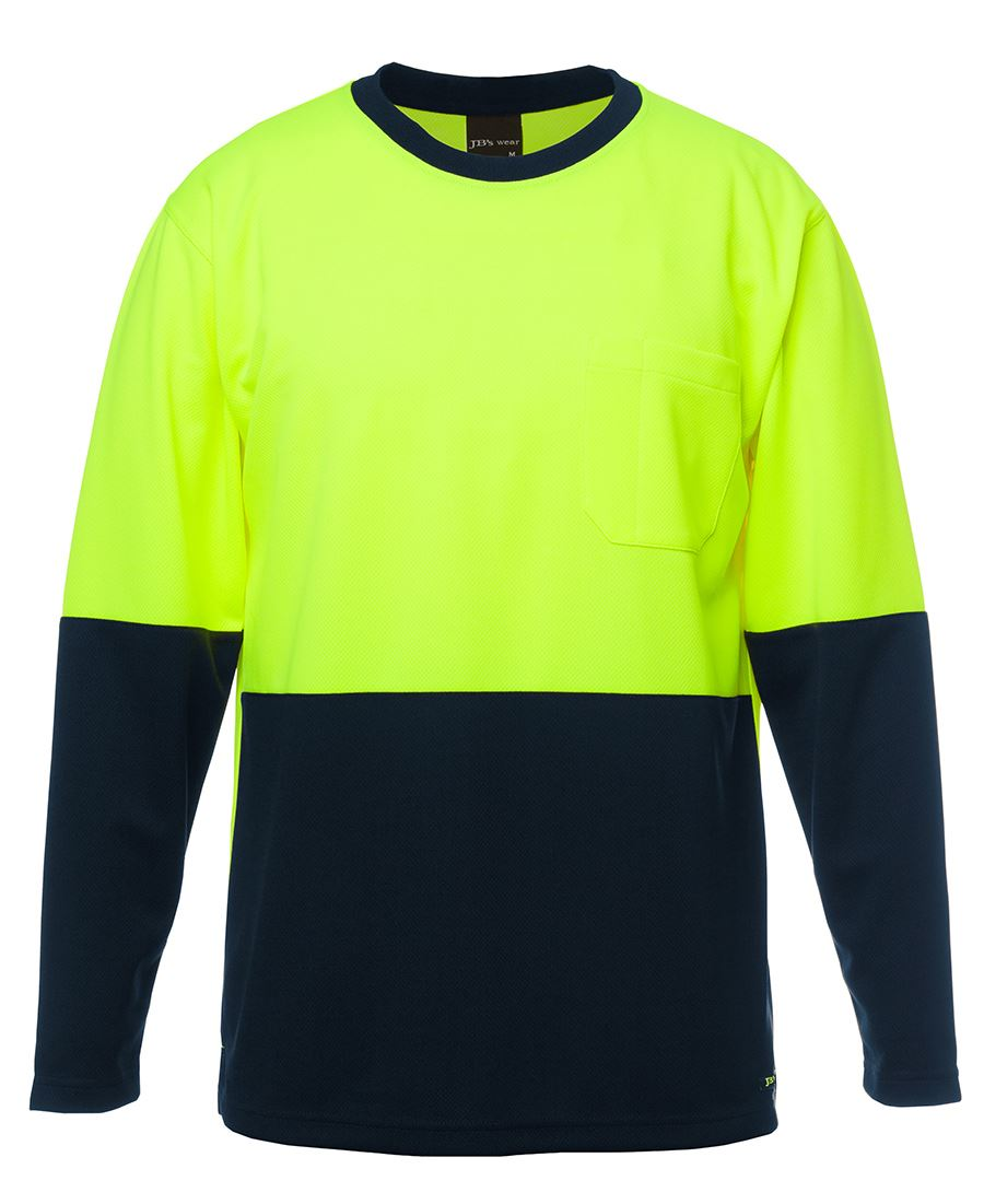 ACTIV EMBROIDERY DESIGNS, WORKWEAR, JB's Hi Vis Long Sleeve Traditional T-Shirt