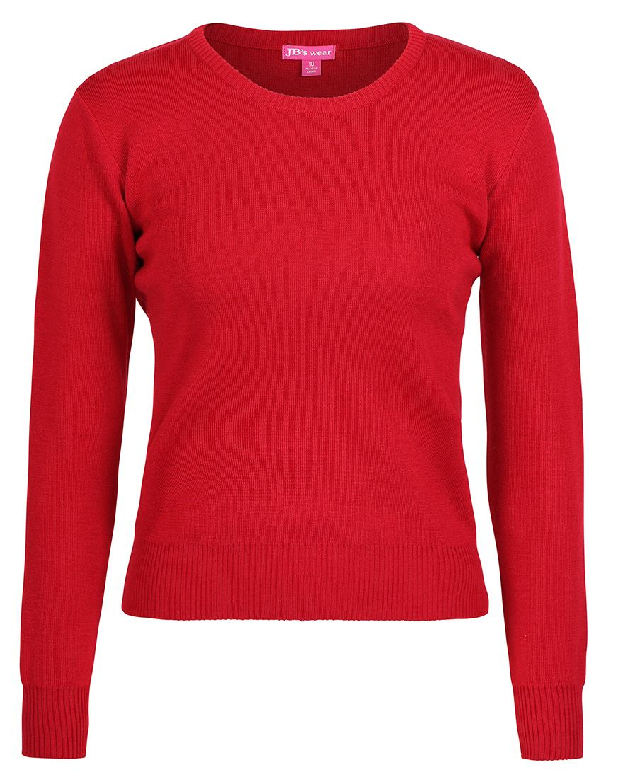 ACTIV EMBROIDERY DESIGNS.UNIFORMS. JB Ladies Corporate Crew Neck Jumper