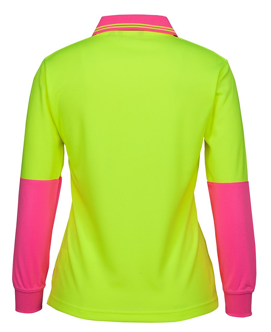 Hi Vis L/S Comfort Polo (Ladies)