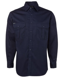 JB WEAR 190G L/S VWork Shirt (Mens)