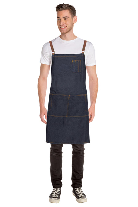 Chef Works Memphis Denim Cross Back Apron