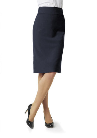 ACTIV EMBROIDERY DESIGNS. UNIFORMS. CLASSIC BELOW KNEE SKIRT. LADIES.