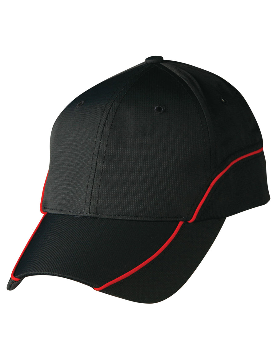 Ripstop Peak Cap With Contrast Mesh Lining