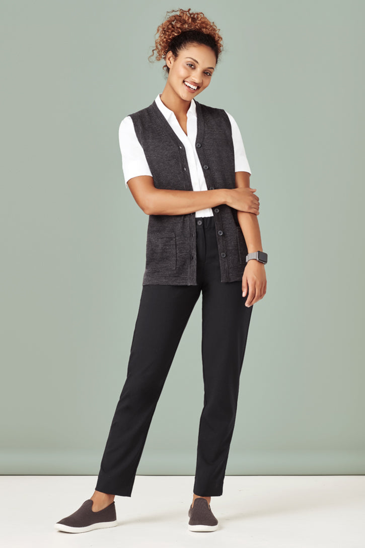 Womens Button Front Knit Vest CK961LV