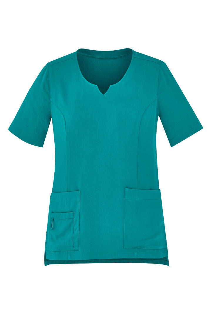 Womens Tailored Fit Round Neck Scrub Top