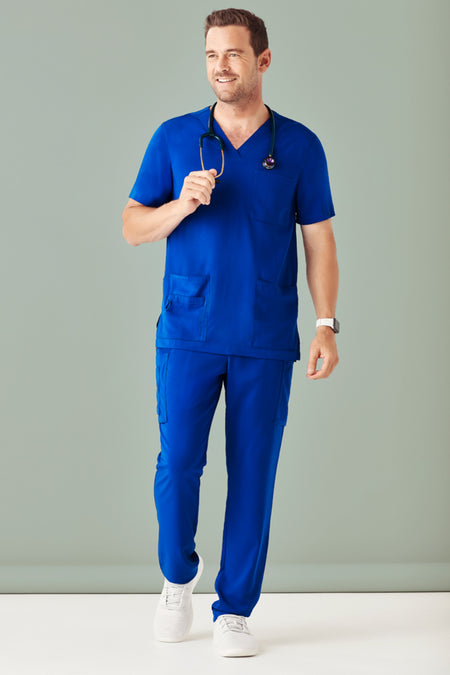 bizcare Mens V-Neck Scrub Top CST945MS