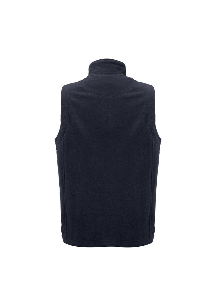 MENS PLAIN MICRO FLEECE VEST ( BACK )