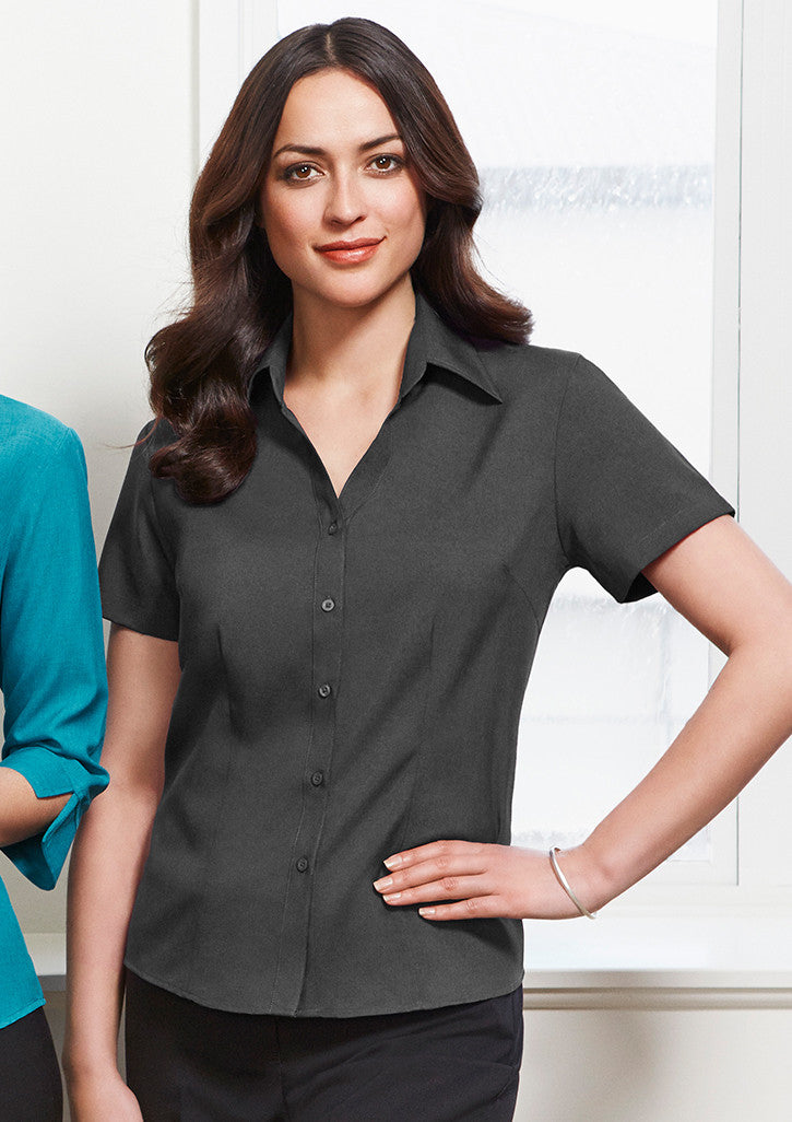 ACTIV EMBROIDERY DESIGNS. HEALTHCARE UNIFORMS.LADIES PLAIN OASIS SHORT SLEEVE SHIRT