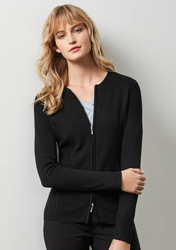 ACTIV EMBROIDERY DESIGNS. UNIFORMS. 2-WAY ZIP CARDIGAN. LADIES.