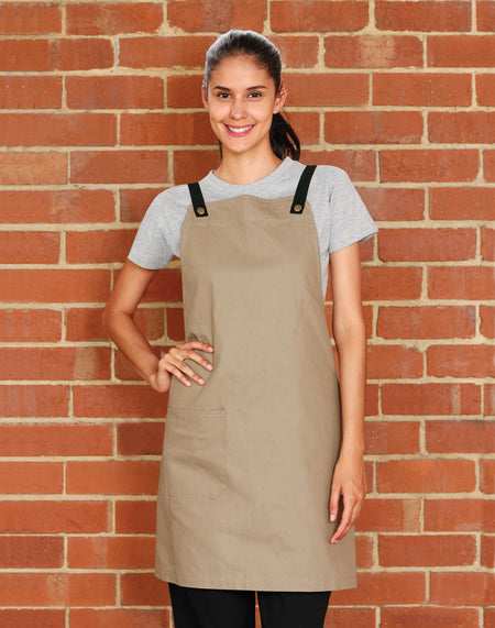 Benchmark ap07 (M3200) Cotton Canvas Bib Apron